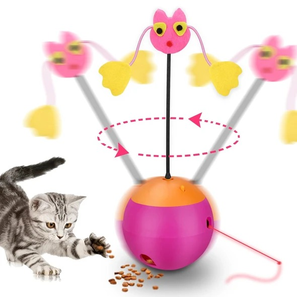 Petsloverhome™ 3-in-1 multifunctional automatic rotating cat toy ball tumbler(BUY 2 FREE SHIPPING)