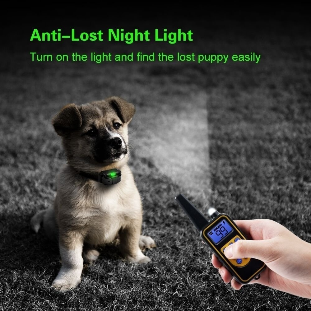 1000m Pet Dog Electric Shock Training Collar IP7 Depth Waterproof Remote Control Dog Device Anti Barking Device