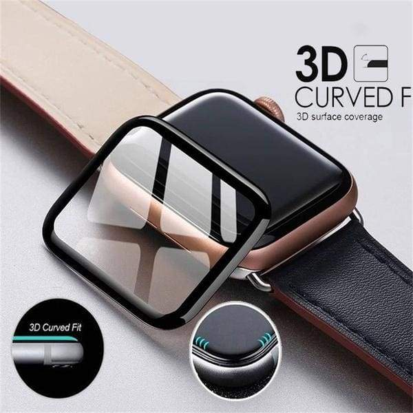 3D Curved Full Coverage Protective Glass Film Screen Protector For iWatch Sreies 5 4 3 2 1