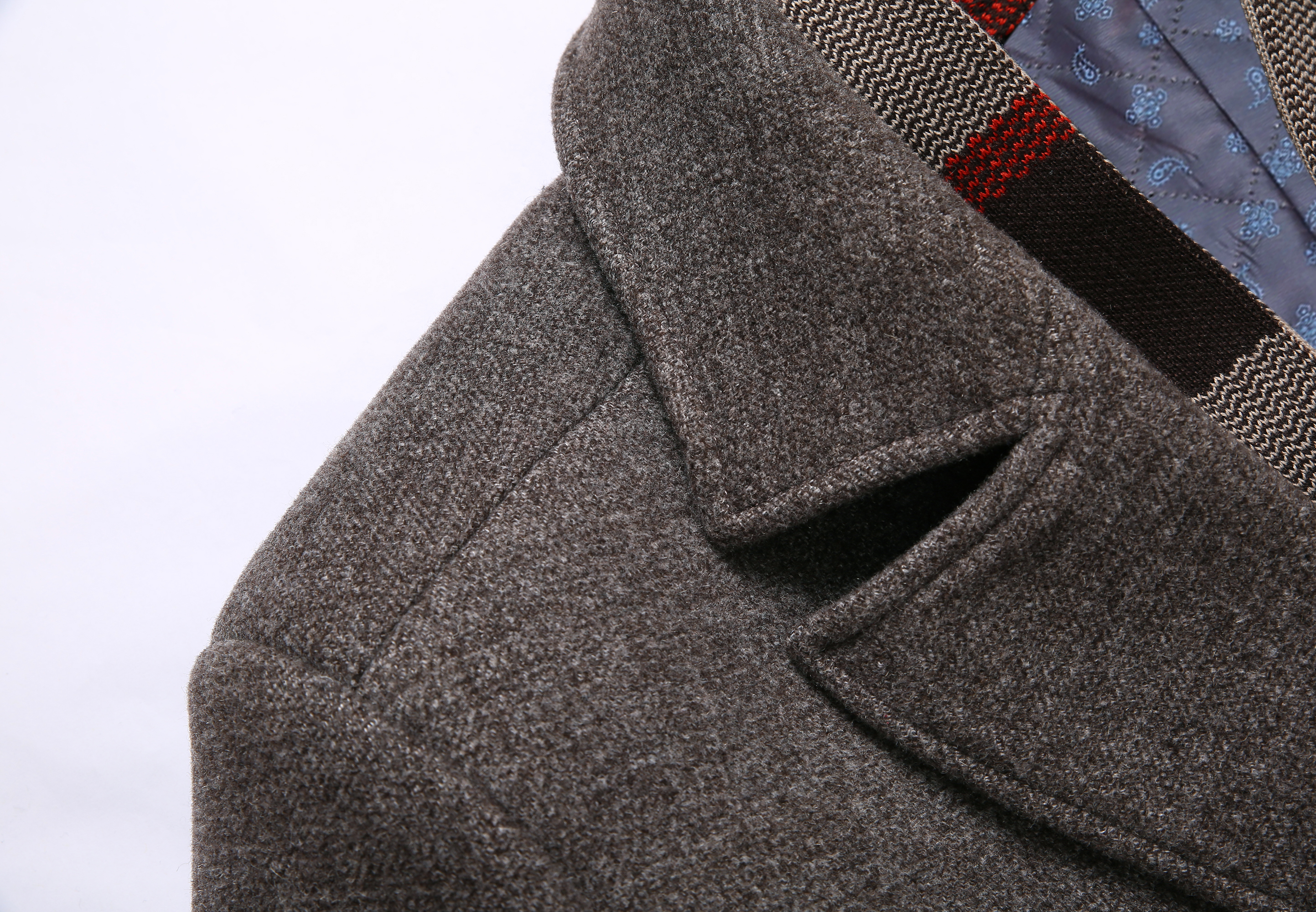Mens Wool Detachable Plaid Scarf Collar Thick Business Casual Overcoats