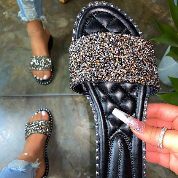 Zoeyootd Shiny Multicolor Casual Slippers