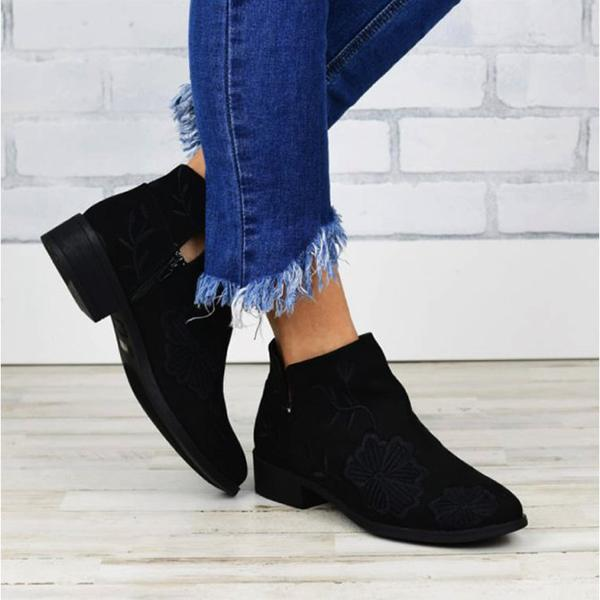 Bonnieshoes Casual Low Heel Winter Boots