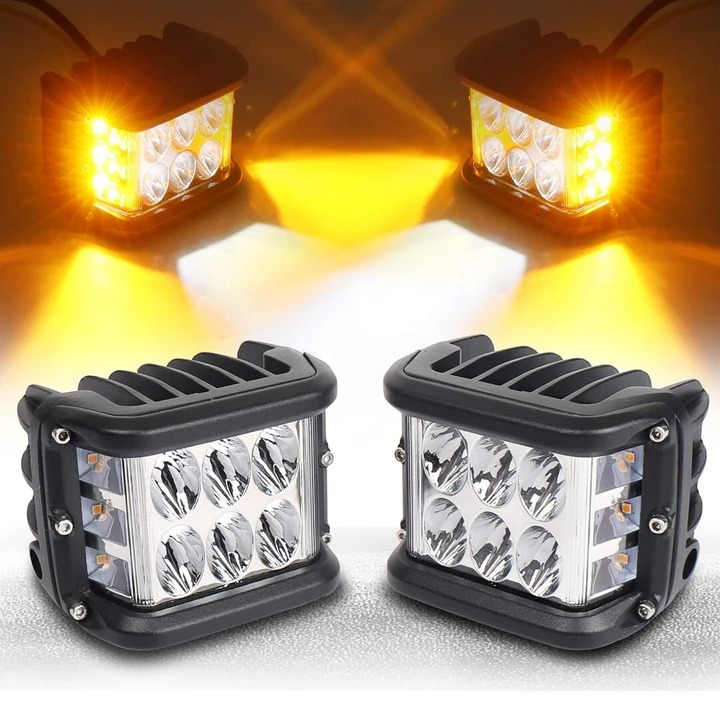 3.75'' Dual Side Shooter Dual Color Strobe Cree Pods for Truck ATV Boat - *LIMITED DISCOUNT*Buy 4 Get Extra 30% OFF
