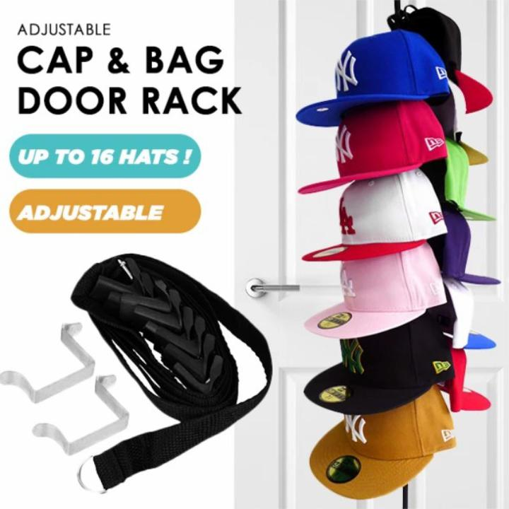 50% OFF Adjustable Cap & Bag Door Rack, Buy 2 Free Shipping