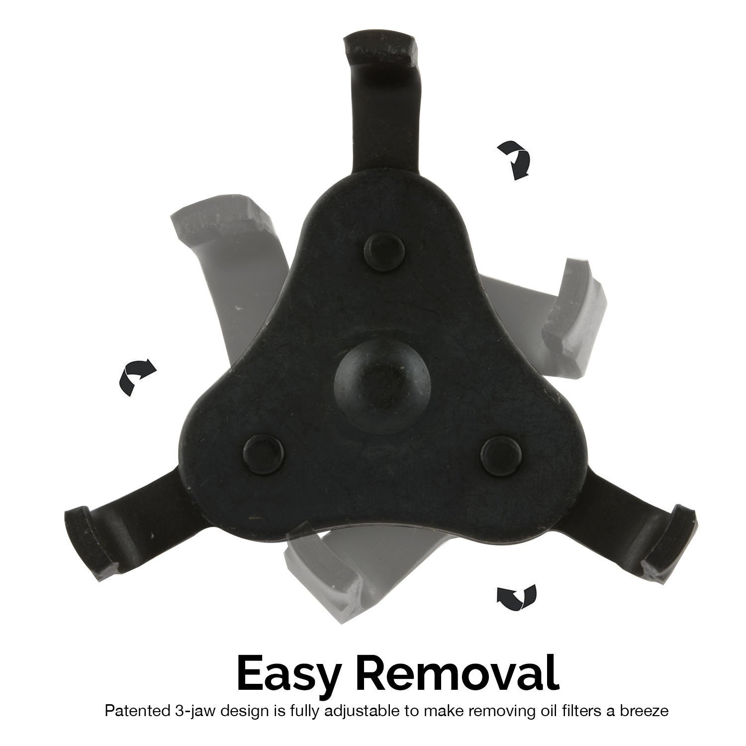 Get a pair of gloves for free!!! Universal 3 Jaw Oil Filter Wrench