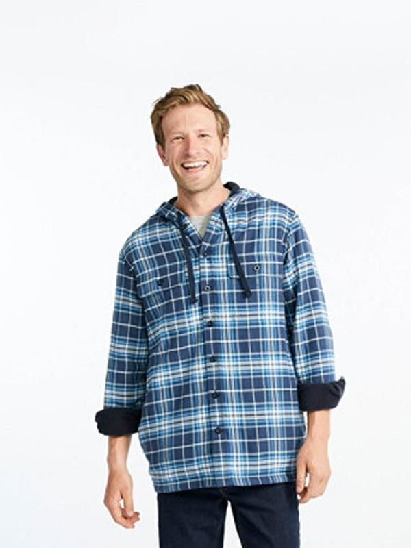 Men's Flannel Long Sleeves Plaid Shirt