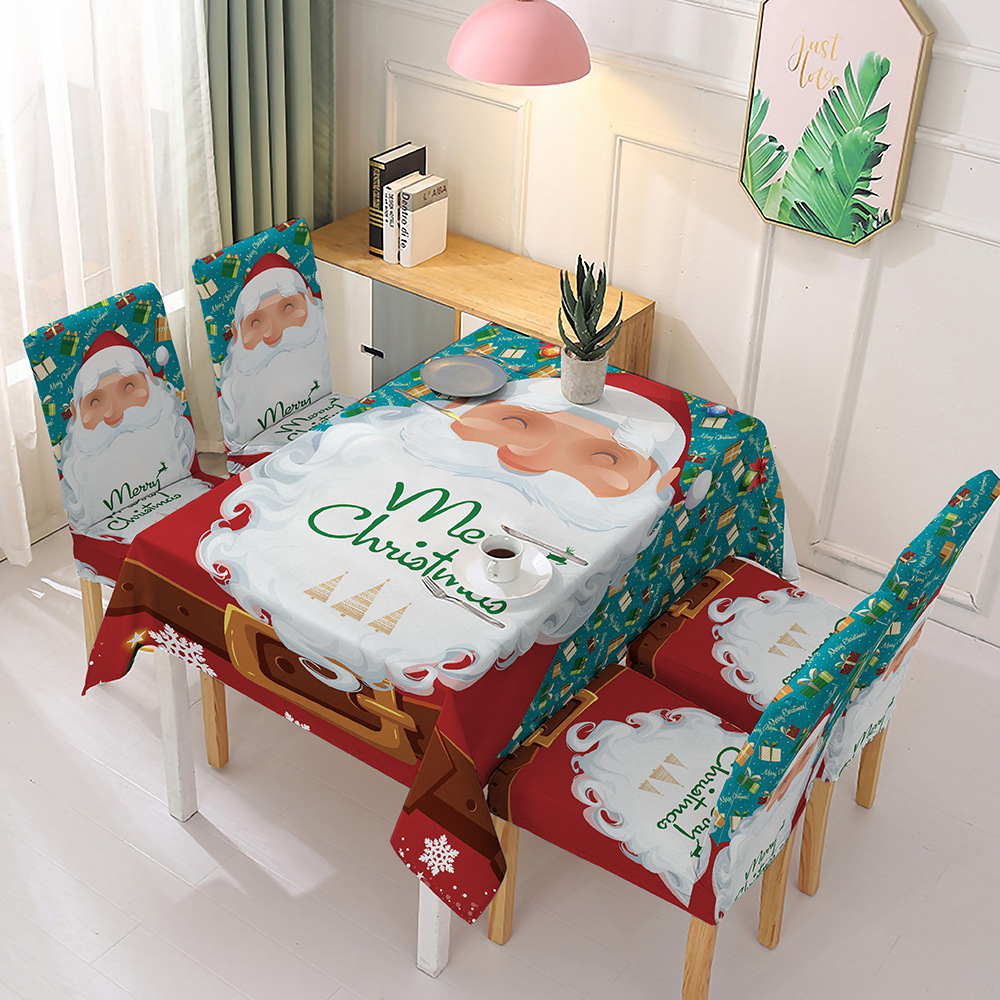 2020 New Christmas Tablecloth and Chair Cover Decoration
