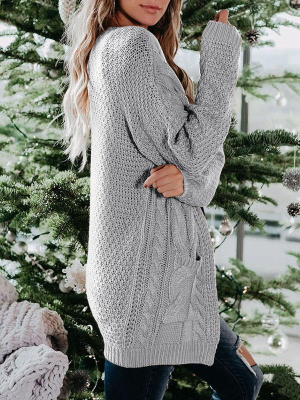 Bonnieshoes Long Soft Pocket Knit Cardigan