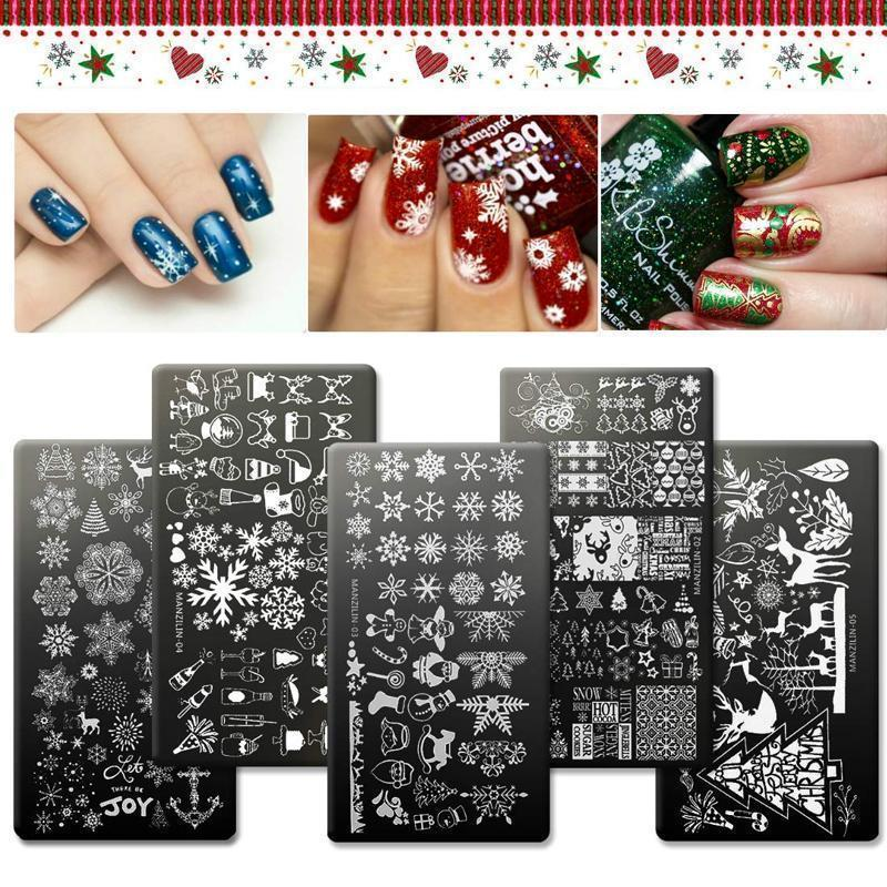 🌟Christmas Hot Sales🌟Christmas Style Nail Art Stamping Template
