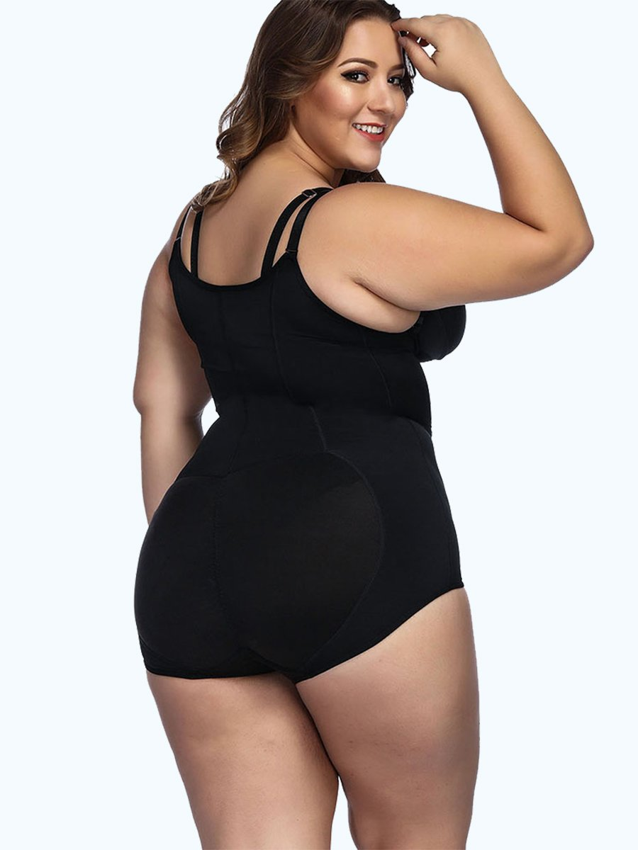 okiwilldo Adjustable Crotch Hooks Tight Bodyshort Shapewear
