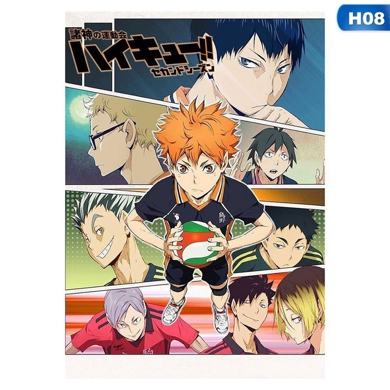 42*29.7Cm Japanese Animen Haikyuu  A3 Posters Wall Art Poster For Wall Decor Chic