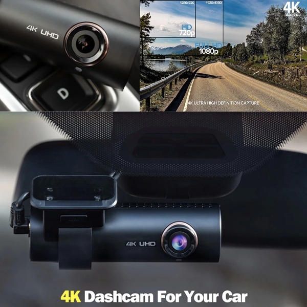 2020 NEW 4K UHD wide-angle lens car drive recorder, built-in WIFI dashboard and GPS