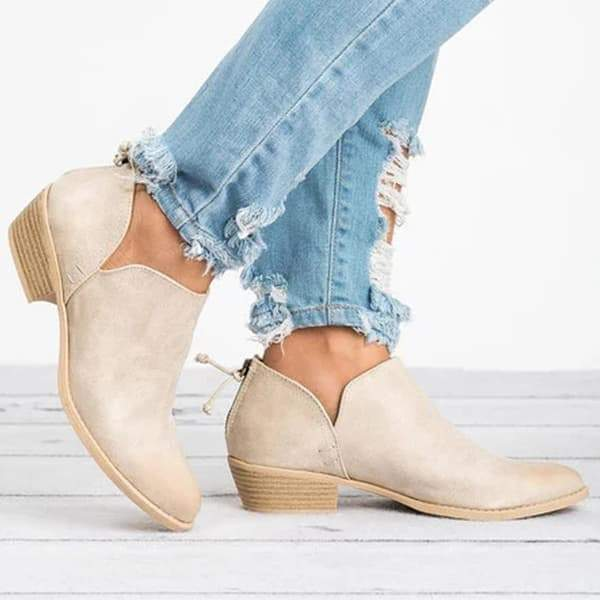 Mokoshoes Ankle Chunky Boots