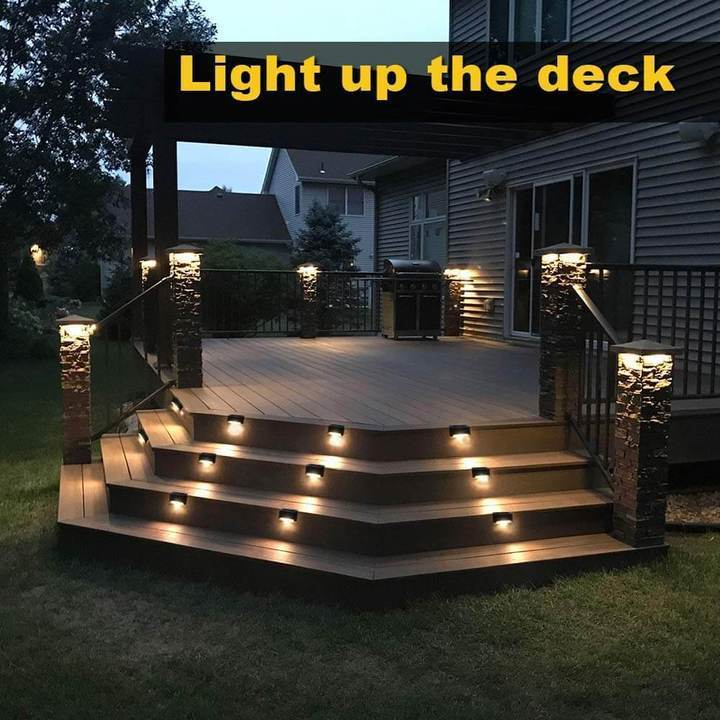 Waterproof Outdoor Solar Deck Lights - 50% OFF