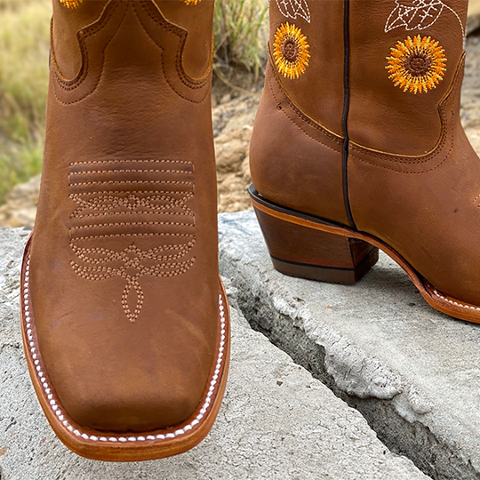 Women's Classic Snip Toe Cowgirl Boot Sunflower Boots