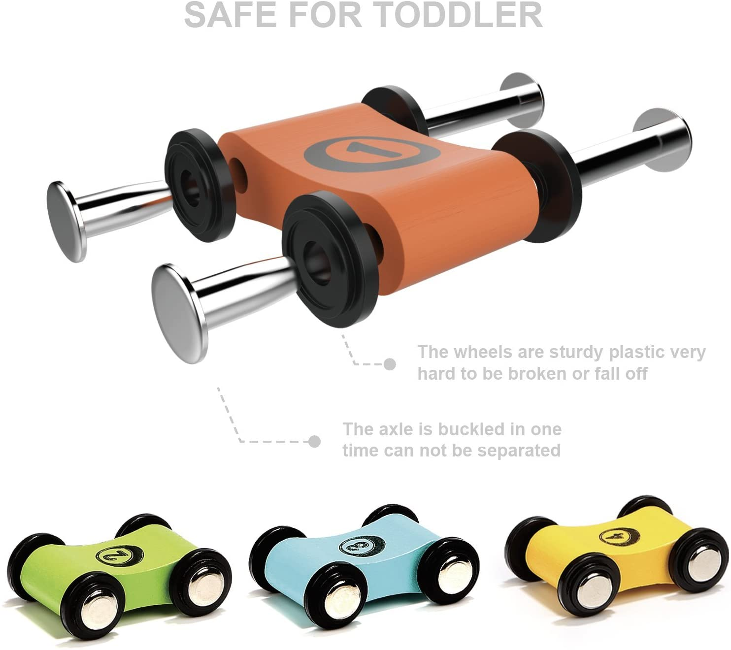 🌟Christmas Hot Sales🌟Toddler toy wooden track car