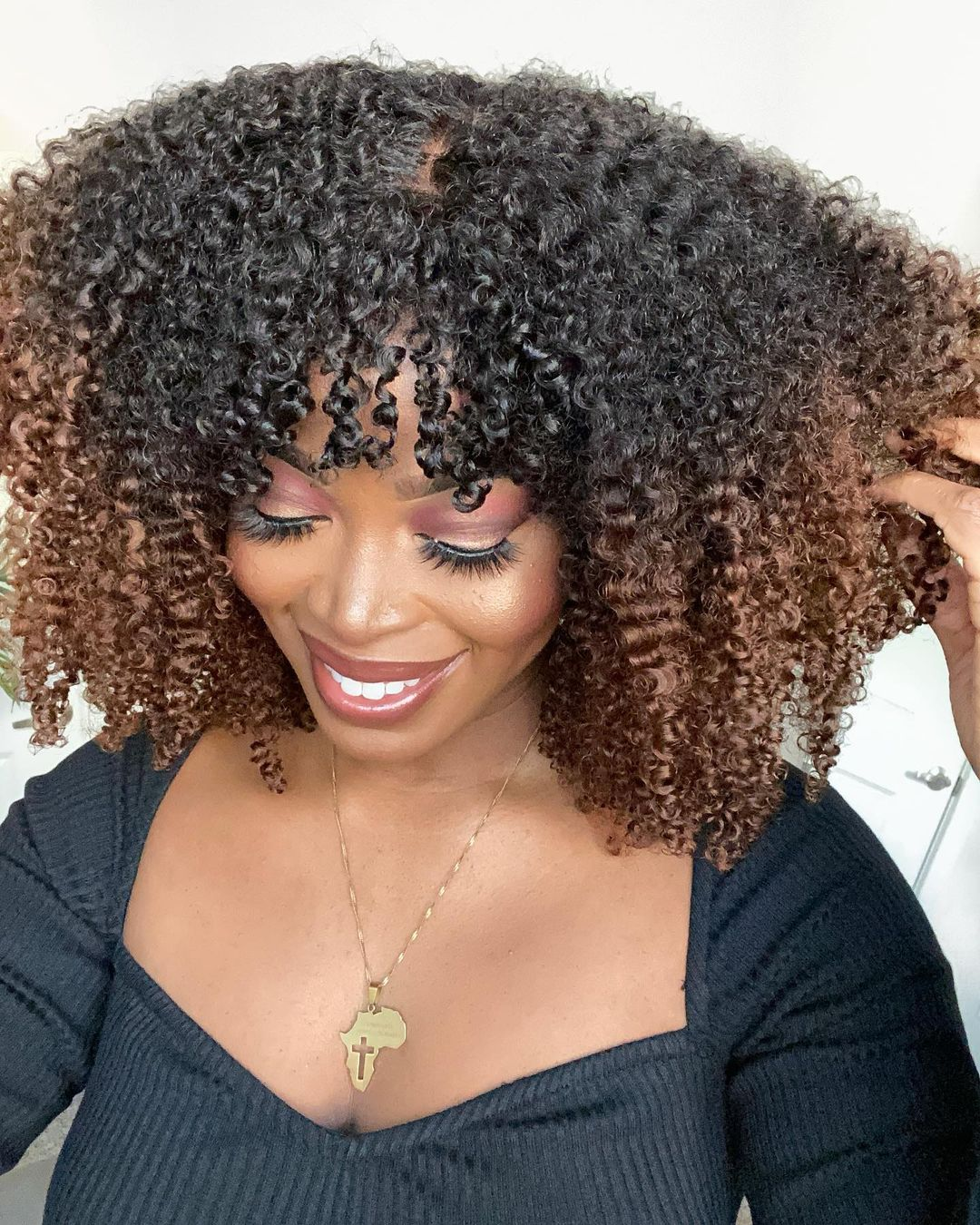Most Natural Ombré Curly Wig Summer Bob wig