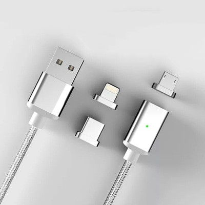 Magnetic Cable Micro USB Cable Quick Charger 3A Fast Charge Cord for Android Mobile Phone Wire