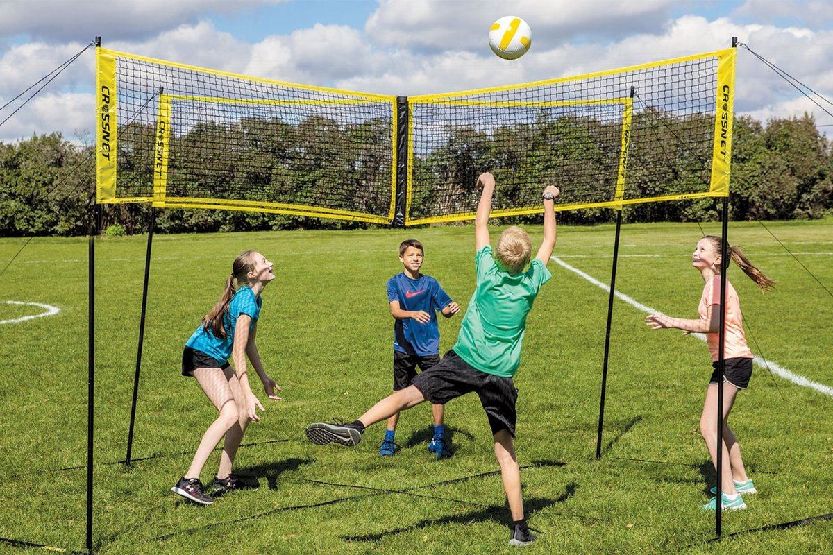 Indoor and outdoor cross sports volleyball net