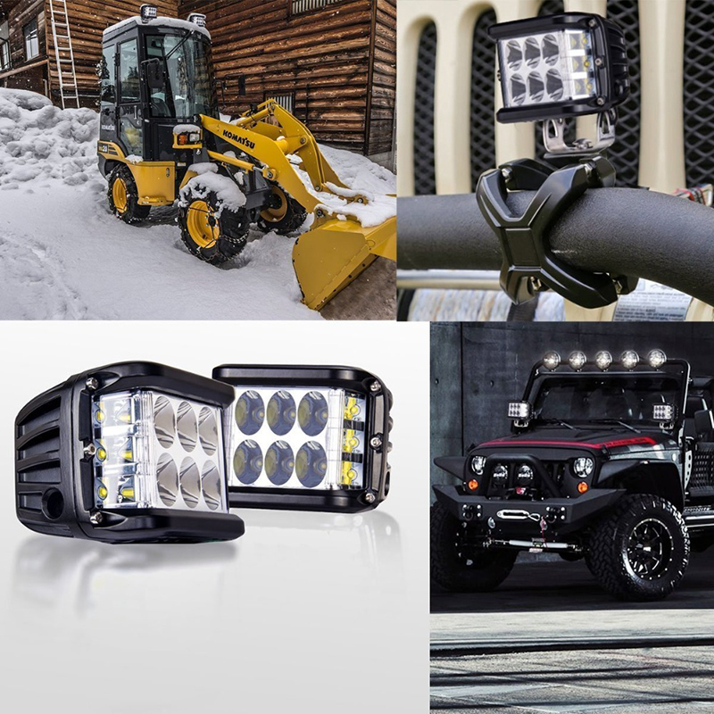 "3.75"" Dual Side Shooter Dual Color Strobe Cree Pods🔥BUY MORE SAVE MROE🔥"