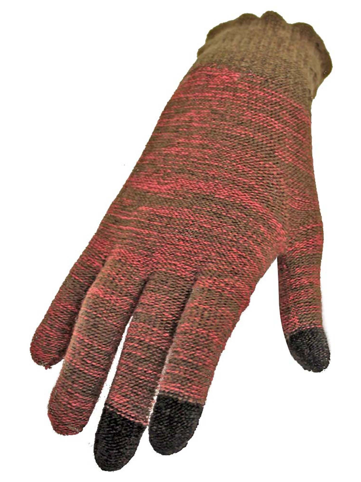 Marled Knit Stretchy Texting Gloves