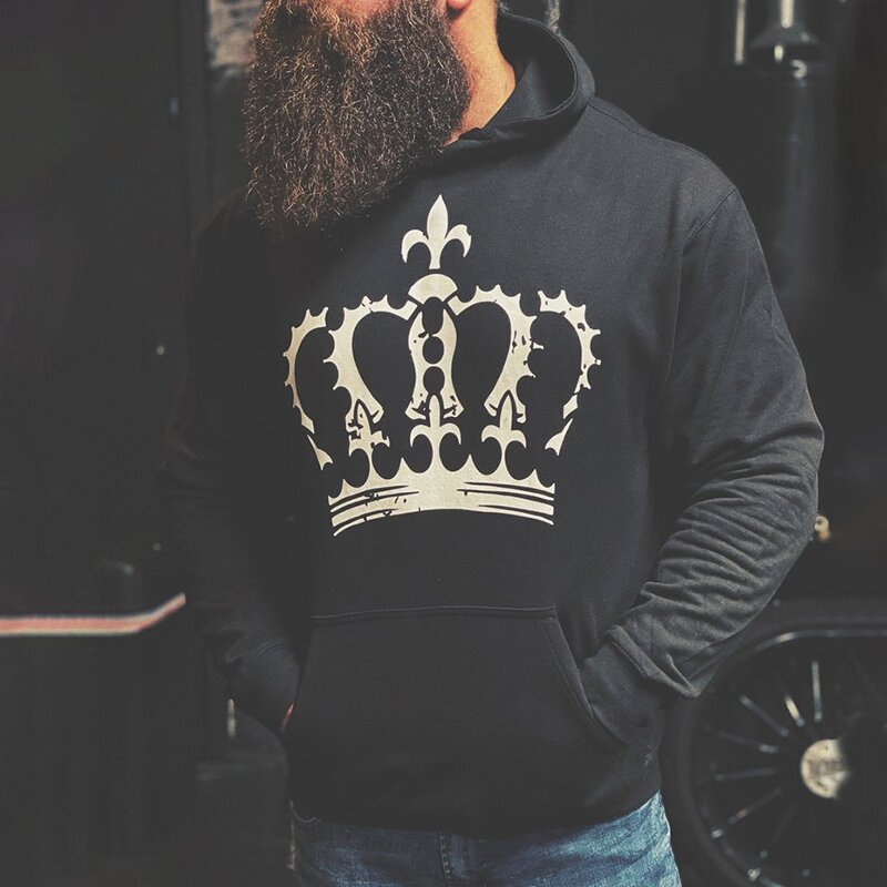BOW TO NO ONE skull print hoodie
