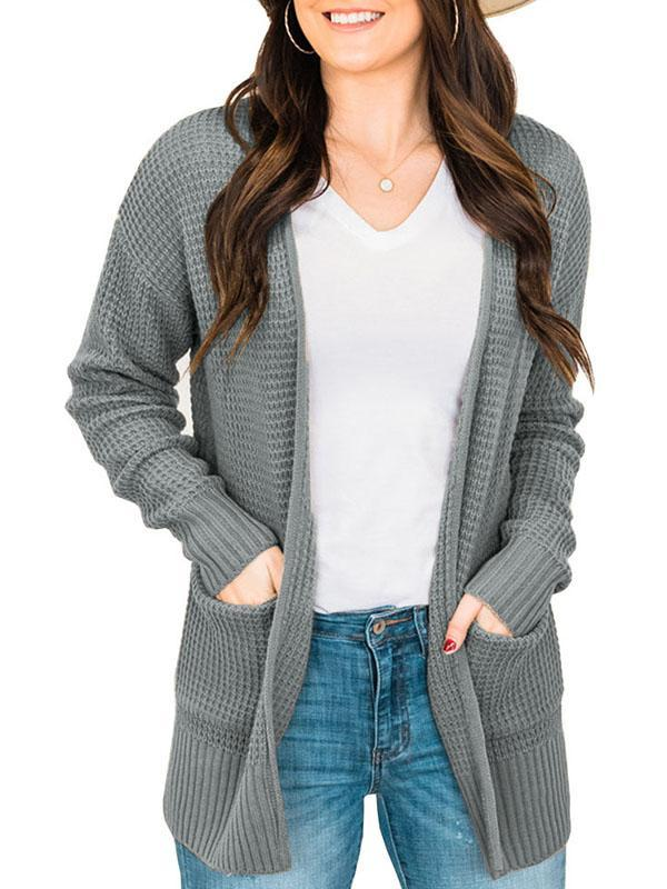 Bonnieshoes Loose Knitted Check Cardigan