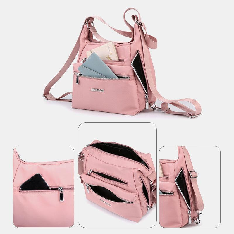 Women Headphone Anti theft Waterproof Multi-Carry Backpack
