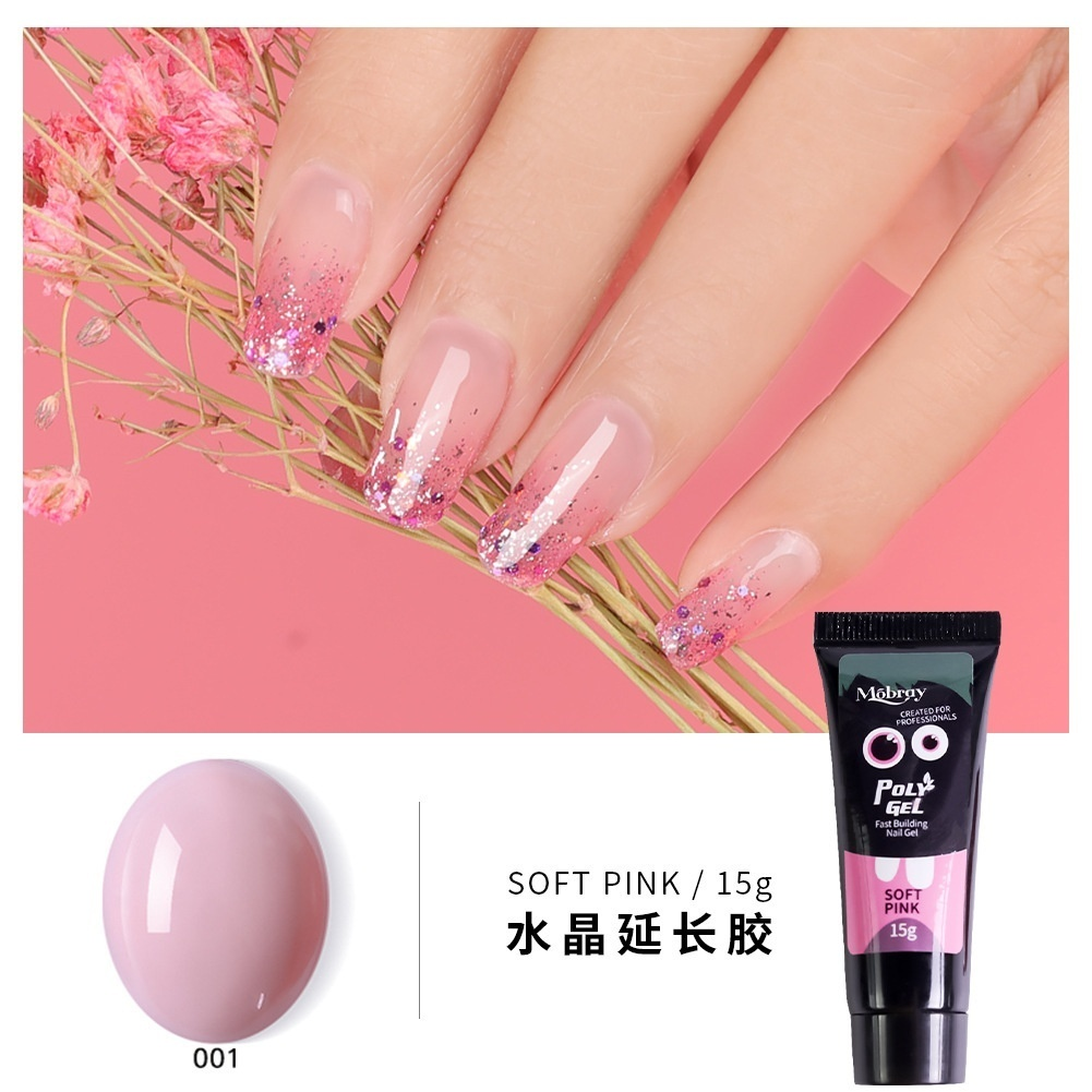 5/11pcs/Kit Nail Extension Poly Gel Set With Nial Tips Dual Form Qiuck Dry Polygel Builder Gel For Manicure Finger Extension Brush