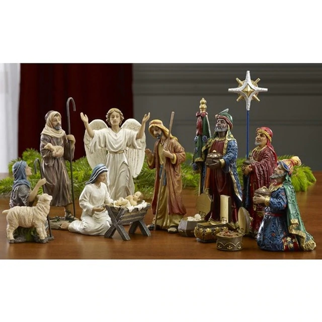 🔥 Only $26.98 - BUY 2 GET 1 FREE 🔥 Real Life Nativity Set