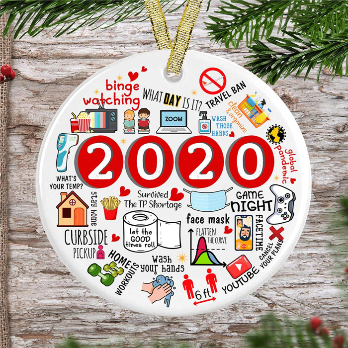 🎄2020 Christmas Tree Pandemic Ornament🎄