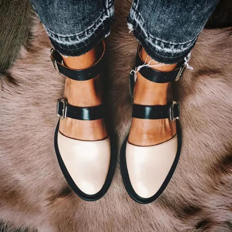 2019 New Fashion Trends Outfits Low Heel Shallow Buckle Sandals
