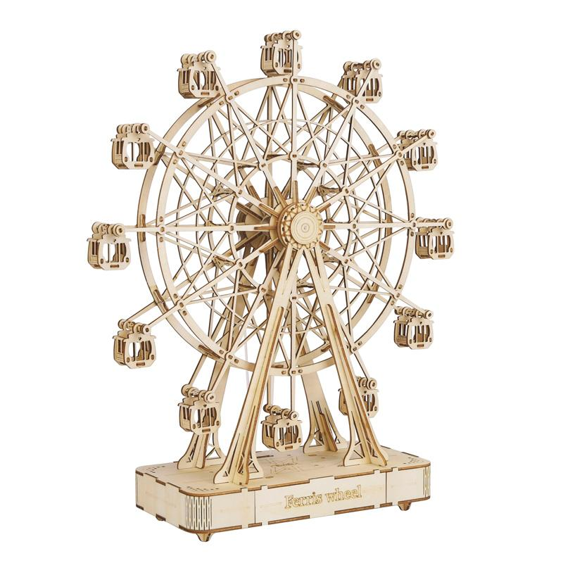 🎁Perfect Gift Huge Ferris Wheel  Wooden Music Box
