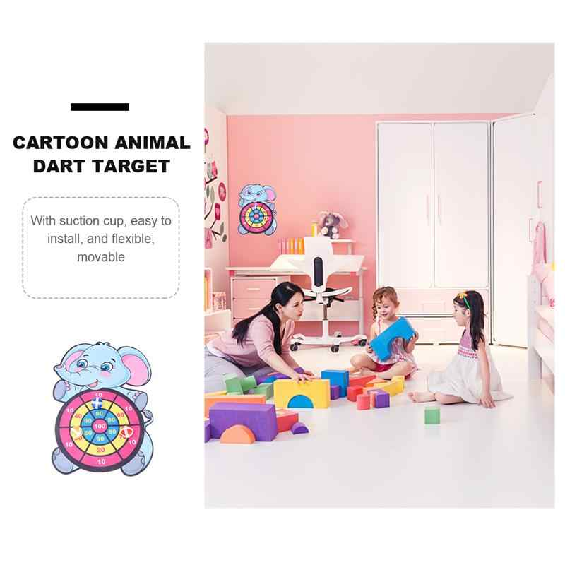 Cute Elephant Target Dart With 3 Free Sticky Balls