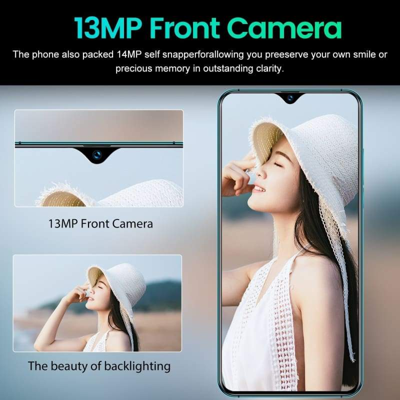 2019 New Smartphone Mate30 Pro Smartphones Android  Smartphone 6.5 Inch Mobilephone Full Screen Support Face/Fingerprint Unlock 4G Dual SIM Mobile Phone (8GB RAM+256GB ROM+Free Gift 128GB TFCard
