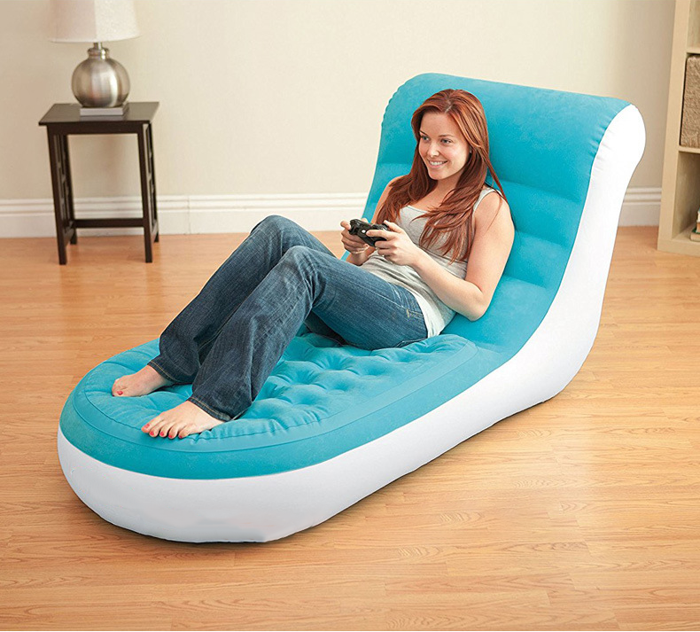 Inflatable Sofa Lazy Bed Outdoor Home Leisure Sofa Folding Chair