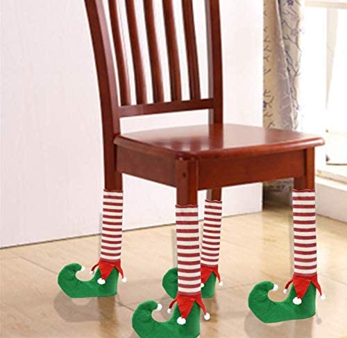 4 Pack Christmas Table & Chair Leg Covers