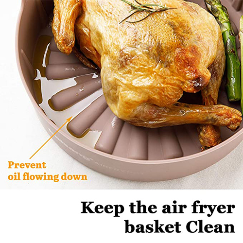 Air fryer silicone pot