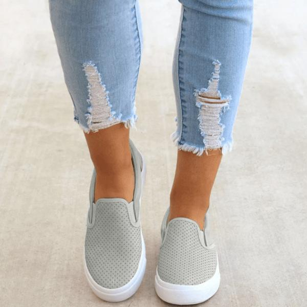 Zoeyootd Slip On Running Flat Sneakers