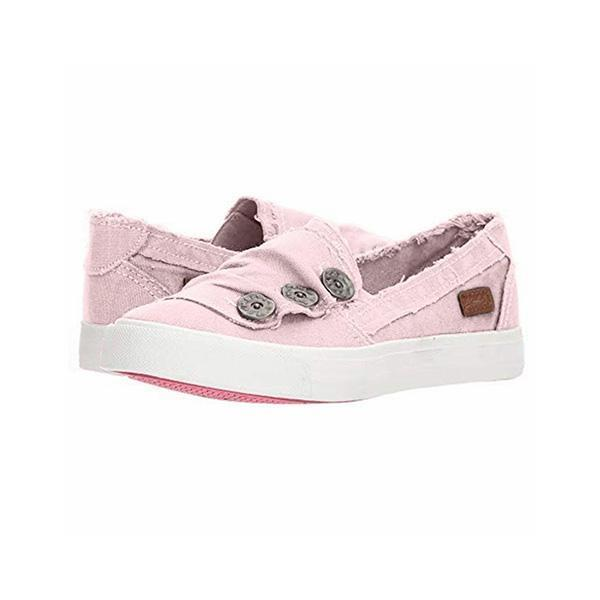 Bonnieshoes Women Casual Button Comfy Sneakers