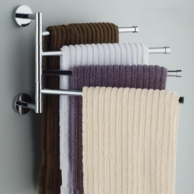 Two/three/four Bars Stainless Steel Towel Bar Rotating Towel Rack Bathroom Towel Rack Accessory