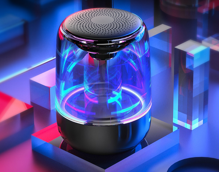 Wireless Speaker Subwoofer Phone Bluetooth Audio High Volume Card Portable Outdoor Mini Colorful Lights Small Steel Gun