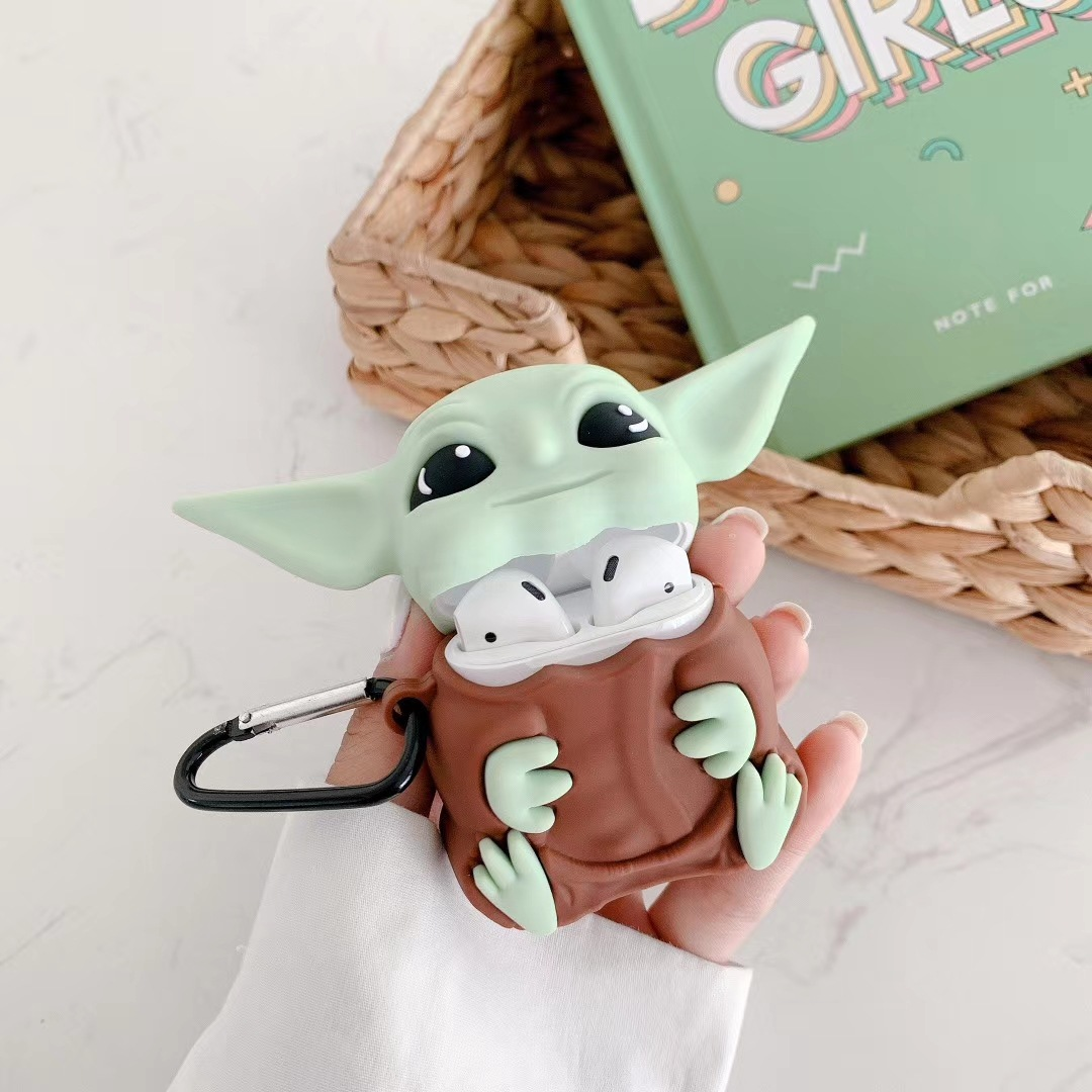 Baby Yoda Silicone Airpod Case The Green Child Gen 1 2