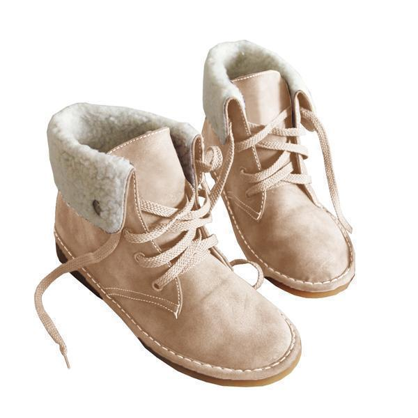 Mokoshoes Winter Warm Suede Lace Boots