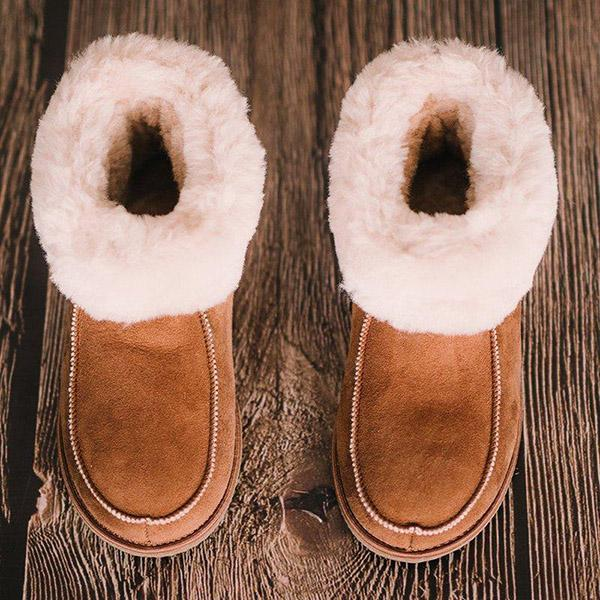 Bonnieshoes Women's Cute Casual Warm Ankle Snow Boots