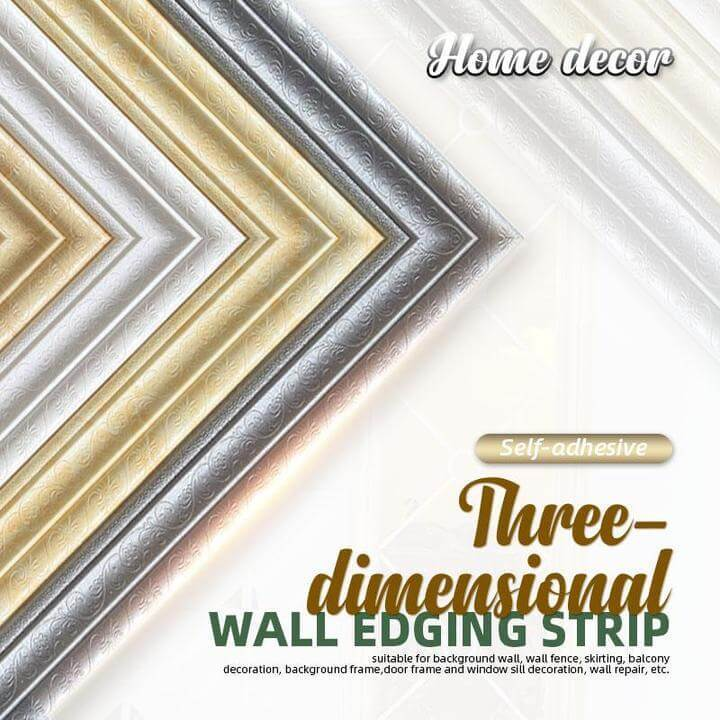 (❤️Women's Day Flash Sale - 50% OFF) Self-adhesive 3D Wall Edging Strip, Buy More Save More