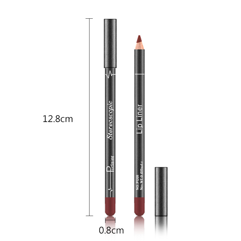 12 Colors Waterproof Lip Liner Pencil