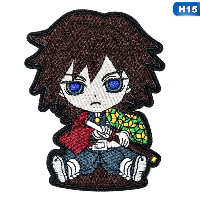 16 Styles Demon Slayer Creative Character Embroidered Patches Iron On Or Sew On Patch Applique Badge For Clothes Jackets Jeans Caps Backpack Diy Accessories Patch