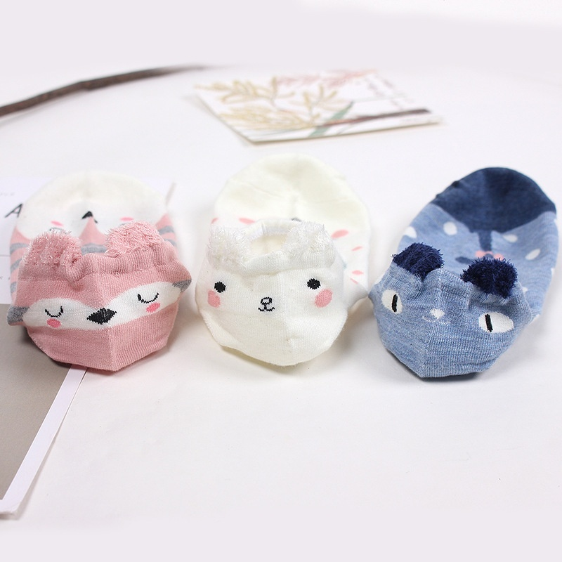 Spring and Summer Cartoon Cute Female Boat Socks Cotton Ladies Socks