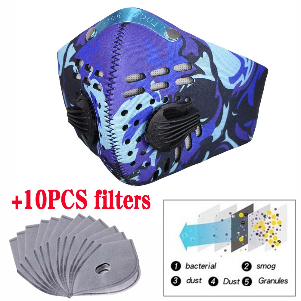 30pcs Hot Sale PM2.5 Breathable 5 Layers Outdoor Accessories Cycling Masks Smog Mask Filter Anti-Dust Smog Mask Filter